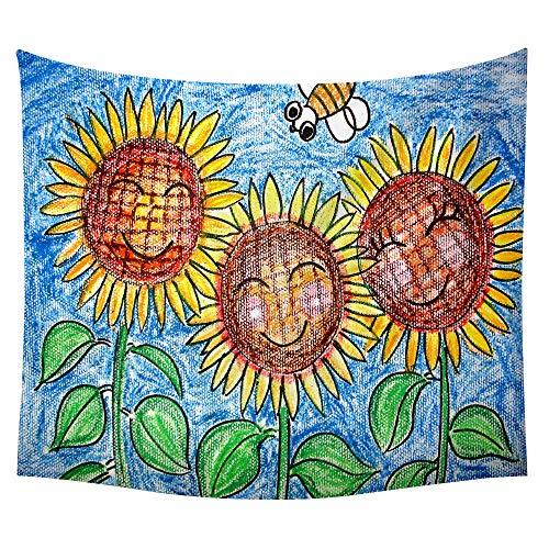 jtxqe Neue Tapisserie Wandbehänge Strandtuch Decke Sonnenblume Neue 5 150 * 100