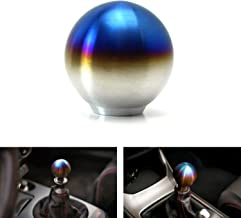iJDMTOY Burnt Titanium Finish JDM Sphere Shift Knob Universal Fit for Most Car 4 5 6 Speed Manual or Automatic etc.