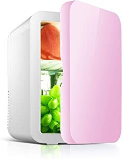 JTJxop Mini Frigo De Chambre, Mini Réfrigérateur Voiture Portatif Mini Réfrigérateur 8L pour Soins De La Peau et Cosmétiqu...