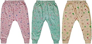 Fabzone Baby Cotton Pajamis | Printed Baby Full Length Pants | Baby Sleep Wear |Infant & Toddlers Pants (Multicolor_Pack O...
