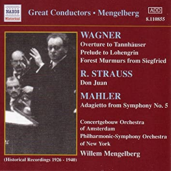 Wagner, R.: Overtures / Strauss, R.: Don Juan (Mengelberg) (1926-1940)