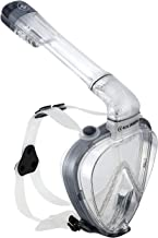 AirGo Full Face Snorkel Mask - 180° Panoramic Visibility, Easy Breathing and Fog Free Design allows you to see and Breathe Underwater as you do on land, Medium