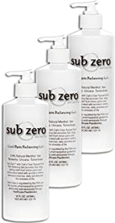 Sub-Zero Cat's Claw Cool Pain Relieving Gel Original, Pump - 16 oz (3 Pack)