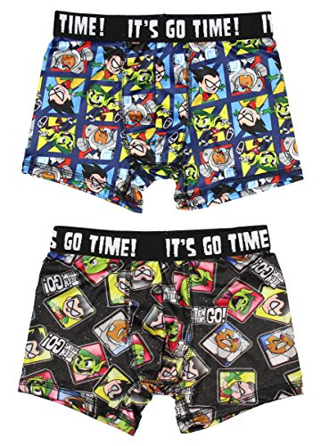 Teen Titans Go! Characters 2 Pack Boys Boxer Briefs Underwear X-Small