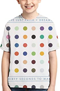 BowersJ Childs 30 Seconds to Mars Design 3D Printed Short Sleeve T Shirt for Girls /& Boys Black