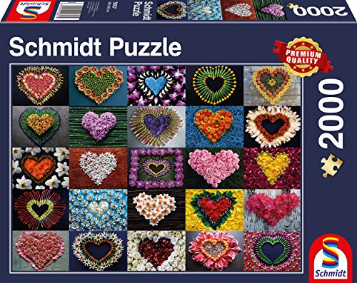Schmidt Spiele Puzzle 58327 Herzen für Madalene, Puzzle, 2000 Teile, bunt