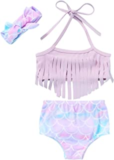 Ambabe Infant Baby Girl Swimsuit Two-Piece Swimwear Cartoon Pineapple Print Top+Shorts Tankini Set Bikini Bathing Suit