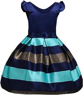 VIKITA Girls Sleeveless Tulle Dresses Flower Girl Dress L-575 Blue,150