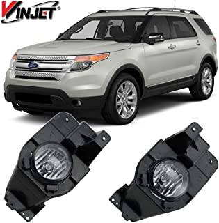 Winjet WJ30-0522-09 Replacement For 2011-2015 Ford Explorer Fog Lights Clear Lens Factory Style