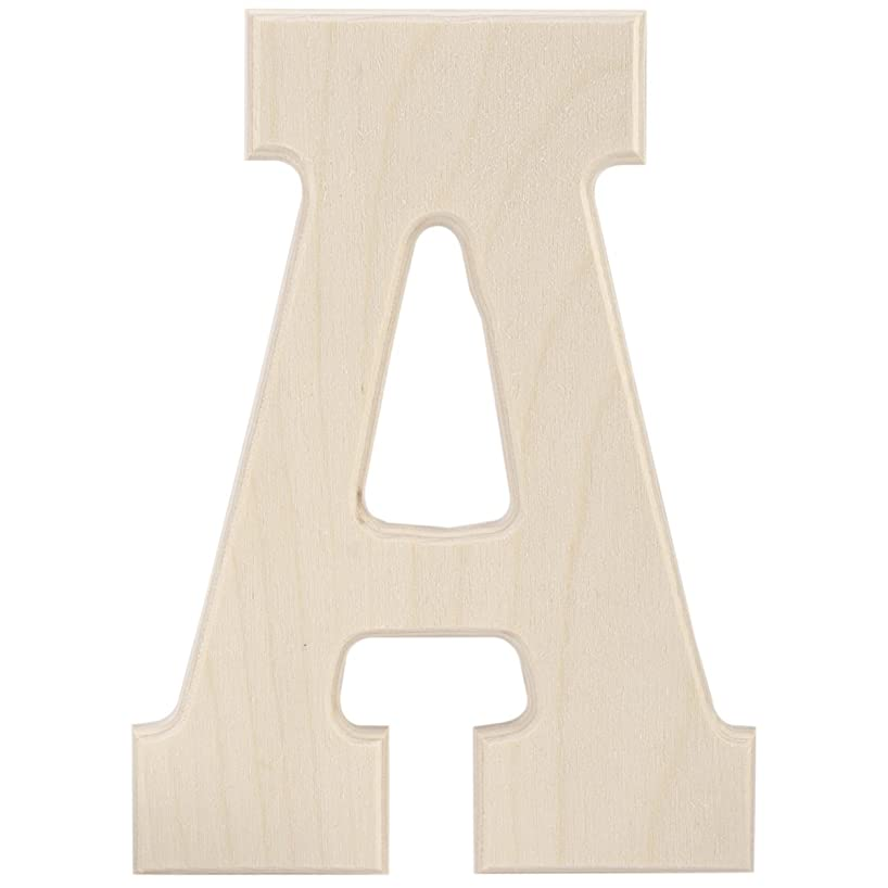 MPI Baltic Birch University Font Letters and Numbers, 5-Inch, Letter A