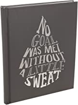 C.R. Gibson Fitspiration Diary Inspirational Fitness Journal Track Daily Workouts and Nutrition Set Goals