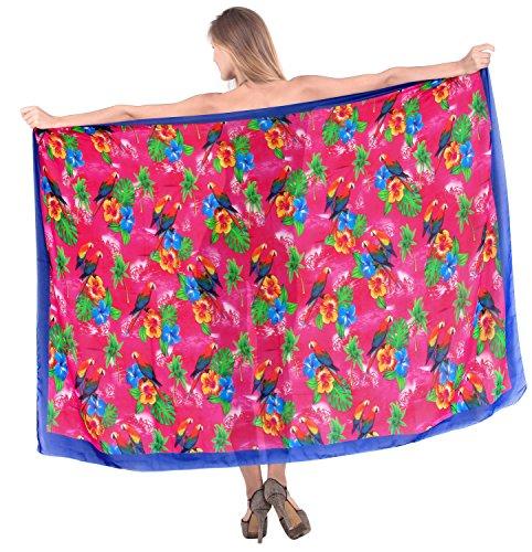 LA LEELA Progettista Chiffon Bikini Costumi da Bagno Sarong Pareo Costume da Bagno Coprire Rosa Aloha