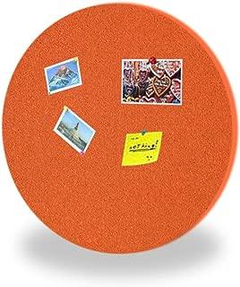 Red-Ni 4Pcs Diameter 12'' Round Colorful Self-Adhesive Cork Cord Colorful Bulletin Board Decorative Cork Tiles Pin Board Self-Stick Colorful Memo Board for Kindergarten Baby Room Decor (Orange)