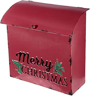 IH CASADECOR Red Metal Mailbox (Merry Christmas), Multi