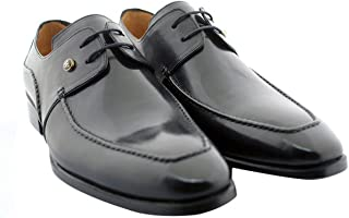[Oscar William] Black Temple Men's Luxury Classic Handmade Leather Shoes