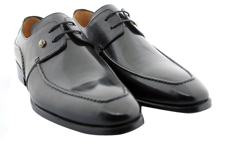 [Oscar William] Black Temple Men's Luxury Classic Handmade Leather Shoes