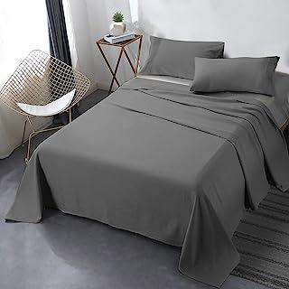 Secura Everyday Luxury - Juego de sábanas, Gris, Queen, 1