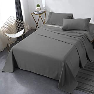 Secura Everyday Luxury California King Bed Sheet Set 4 Piece - Soft Microfiber 1800 Thread Count 16 Deep Pocket Sheet Sets - Hypoallergenic, Wrinkle & Fade Resistant (Gray)
