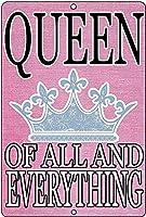 すべての女王の壁の金属のポスターレトロなプラークの警告ブリキの看板ヴィンテージの鉄の絵画の装飾オフィスの寝室のリビングルームクラブのための面白いハンギングクラフト