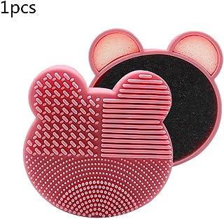 Pink Oso Limpiador de Pinceles de Maquillaje 2 en 1 Silicona
