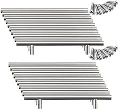 Yorbay 20 x 128 mm boorgat geborsteld roestvrij staal meubelgrepen stanggreep railgreep roestvrij stalen buis Ø 12 mm