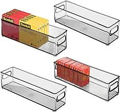 gris//azul verdoso mDesign Organizador colgante para puerta Colgador de puerta con gran bolsillo Organizador de escritorio y oficina Pr/áctico sistema de almacenaje en tela