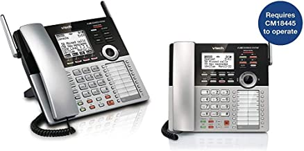 $209 » VTech CM18445 Main Console - DECT 6.0 4-Line Expandable Small Business Office Phone with Answering System & CM18245 Extension Deskset for VTech CM18845 Small Business Office Phone System