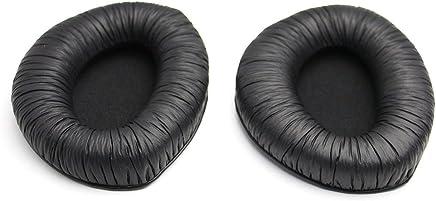 Busirde 1 Paio Auricolari di Ricambio Cuoio dell'unità di Elaborazione per Sennheiser RS160 RS170 Rs180 Cuffie Nero # 1 - Trova i prezzi più bassi