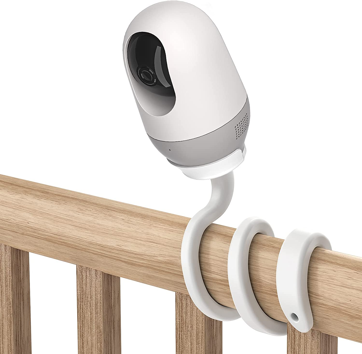 Koroao Baby Monitor Mount for Nooie Baby Monitor Flexible Twist Mount Bracket Without Tools or Wall Damage