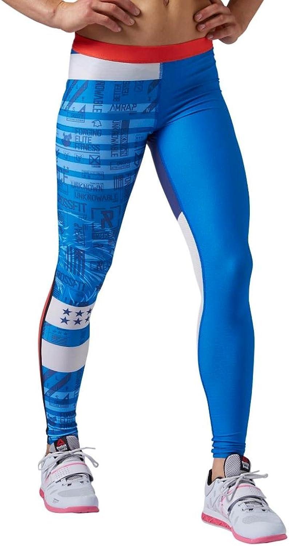 Reebok Womens Crossfit Compression Tights Stripes
