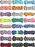 24 Pieces 10 FT 550 Paracord Cord Multifunction Paracord Cord Ropes Paracord Bracelet Crafting Rope for Lanyards Keychain Dog Collar Woven Manual Braiding DIY Supplies, 24 Colors