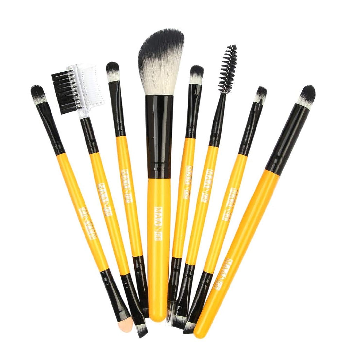 十分に満足走るメイクブラシ 化粧ブラシ 8本 木製のファンデーション 眉毛 アイシャドウブラシセット シャオメイスター