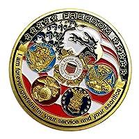 Tachiuwa アメリカ海軍の軍事メダルチャレンジコインホームビジネスとホリデーギフト