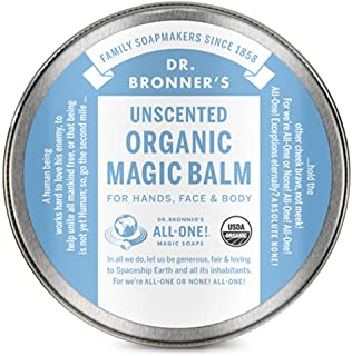 Dr. Bronner's - Organic Magic Balm (Baby Unscented, 2 Ounce) - Made with Organic Beeswax and Hemp Oil, Moisturizes and Soo...