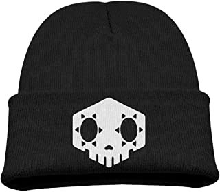 WHROOER Sombra Skull Overwatch Video Game Warm Winter Hat Knit Beanie Skull Cap Cuff Beanie Hat Winter Hats Children
