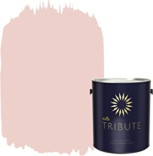 KILZ TRIBUTE Interior Satin Paint and Primer in One, 1 Gallon, Flapper Pink (TB-92)