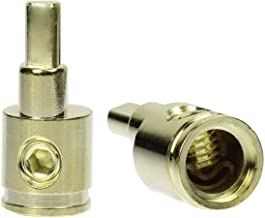Pair (2) Car Audio 1/0 Gauge to 4 Gauge Amp Input Gold Reducers