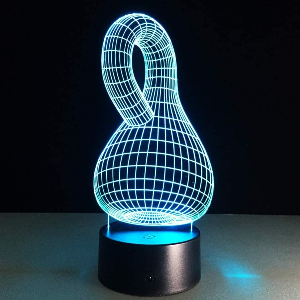 SPNEC 3D Night Light Lowest price challenge Gourd Touch 7 Color 35% OFF Changing LED Lig