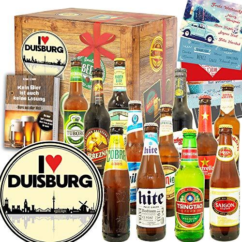 I love Duisburg/Geschenkbox Duisburg / 12x Bier Welt