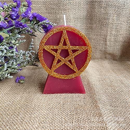 LANHUAN Energía Vela mágica Ritual Occidental Tarot astrología Velas esotérica (Color : White)