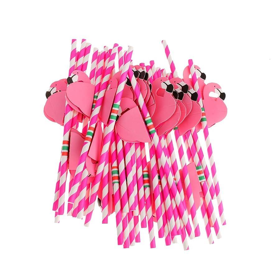 黒板結果の慈悲でamleso ストロー フラミンゴストロー 使い捨てストロー パーティーイ用 フラミンゴ 食器 使い捨て 紙 ピンク