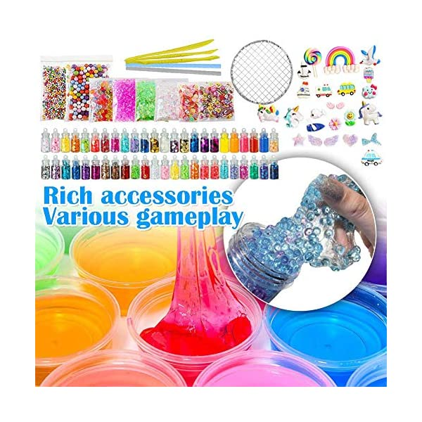 ESSENSON Slime Kit - Slime Supplies Slime Making Kit for Girls Boys, Kids Art Craft, Crystal Clear Slime, Glitter, Slime… 4