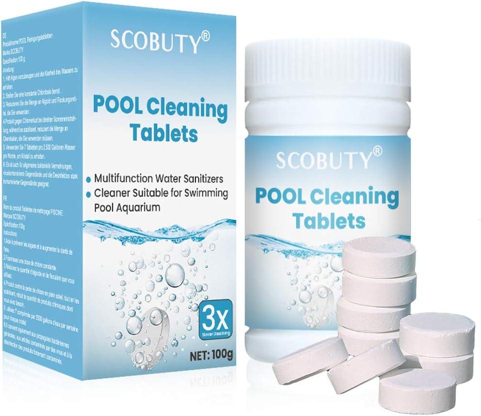 Tabletas Multifuncion,Cloro en Pastillas,Pastiglie Cloro,Tabletas de cloro multifuncionales para limpiar piscinas