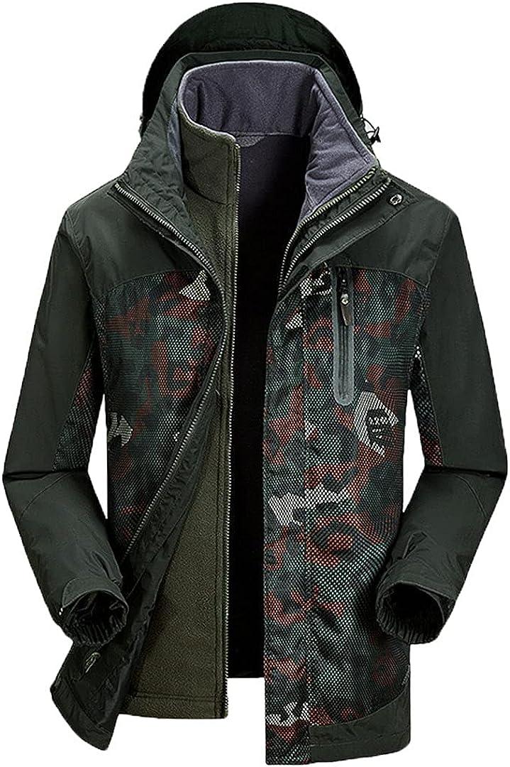 Men Winter Waterproof Streetwear Military Loose Coat Fleece Keep Warm Thermal Hooded Windproof