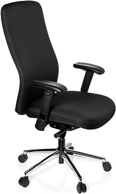 hjh OFFICE 710900 HEAVY CHAIR Silla alta resistencia y Silla de oficina, tejido negro