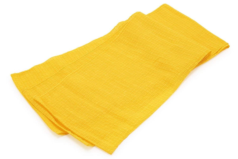 (ソウビエン) 兵児帯 黄色 格子 チェック 浴衣向け 帯飾り 女性帯