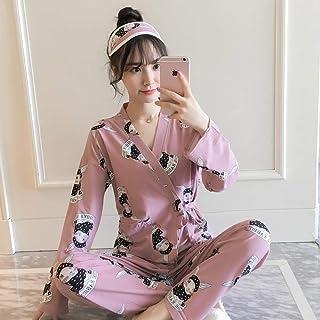 Pijama Mujer Primavera Pijamas De Primavera para Niñas, Conjuntos De Pijamas Cómodos De Invierno para Mujer, Ropa De Kimono De Manga Larga, Traje De Dormir Hermoso De Otoño