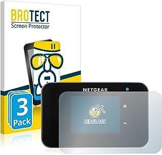BROTECT Glas Screenprotector compatibel met Netgear AC810 (3 Stuks) - Beschermglas met 9H hardheid