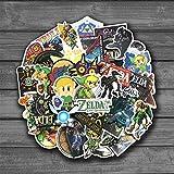 Pegatinas 15 piezas Legend of Zelda Anime icono Animal calcomanías lindas guitarra nevera bicicleta pegatinas regalos...