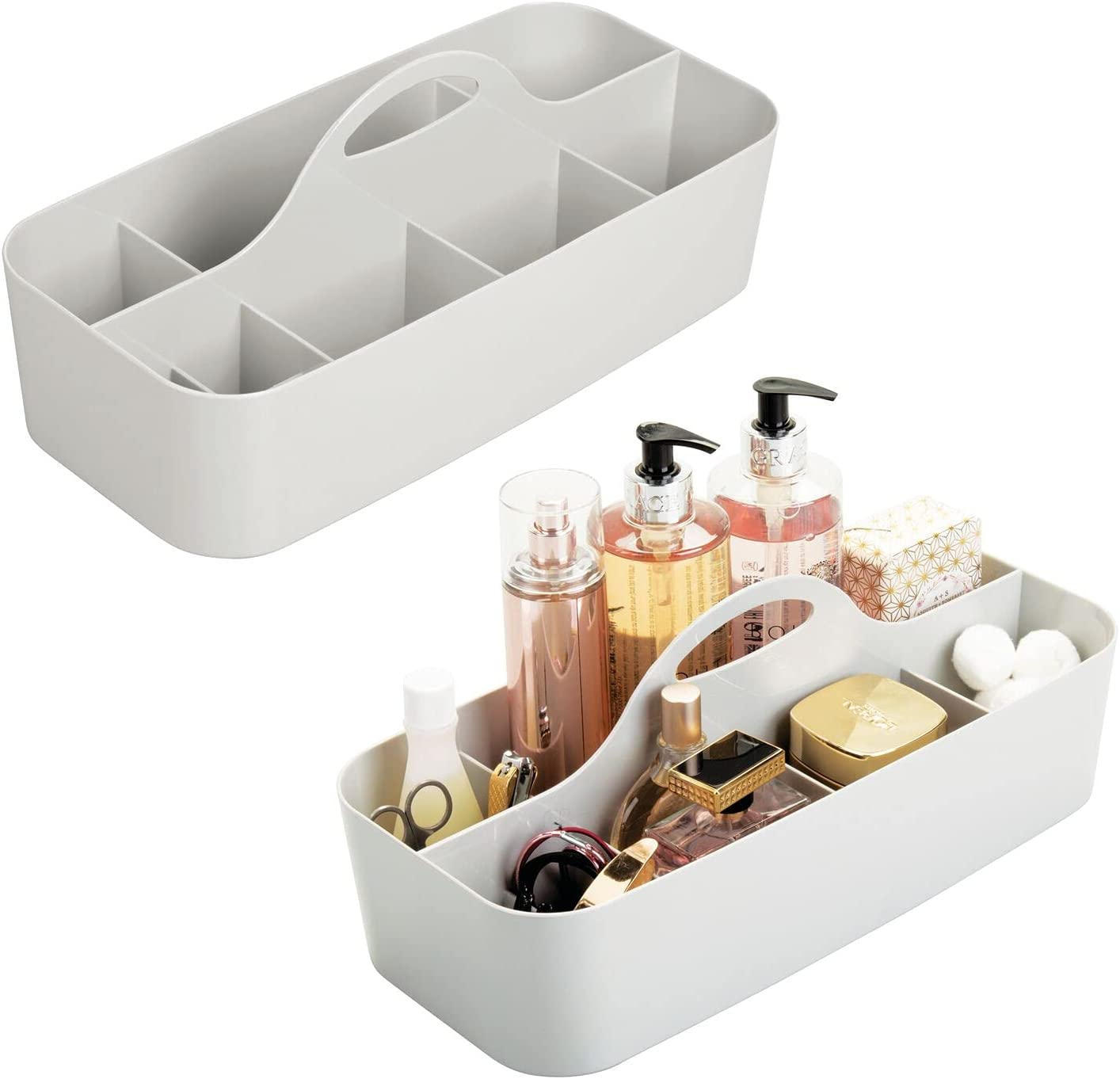 mDesign Plastic Portable Storage Lowest price challenge Organizer Tote - Free Shipping New Caddy Divided